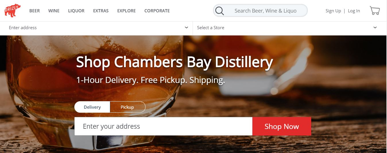Some of our spirits are currently available for delivery in Seattle via Drizly...