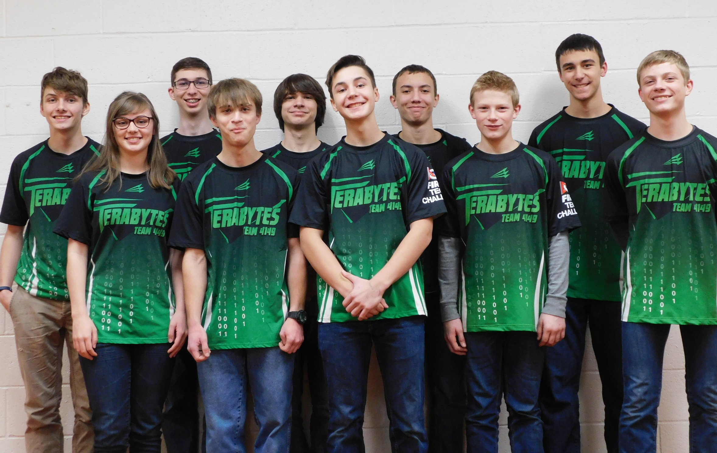 From Left to Right: Ian, Amy, Noah, Jacob, Josh, Andrew L., Micah, Andrew T., Ronnie, Luke.