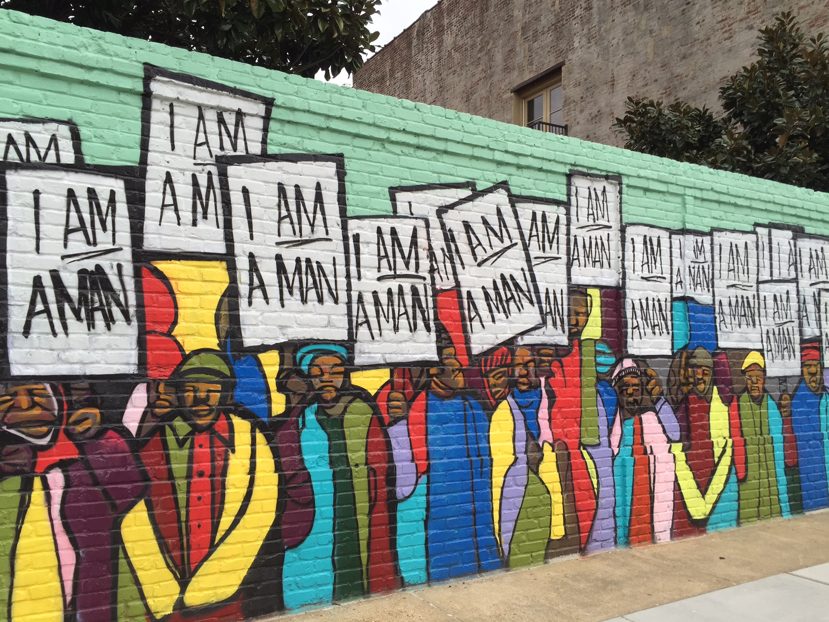 A mural near the National Civil Rights Museum in Memphis, Tennessee.