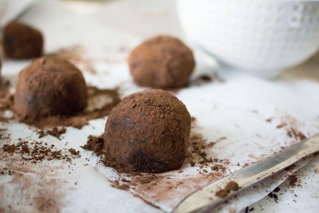 Dark Chocolate Truffles   Pass the Cocoa