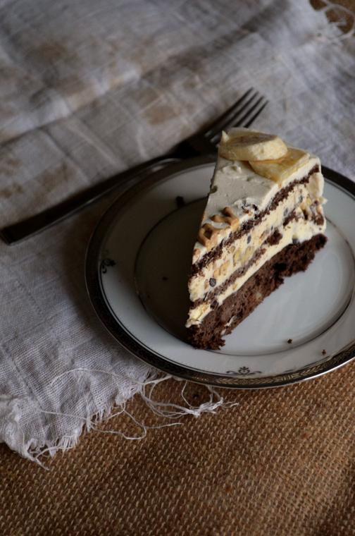Chunky Monkey Ice Cream Cake | Pass the Cocoa