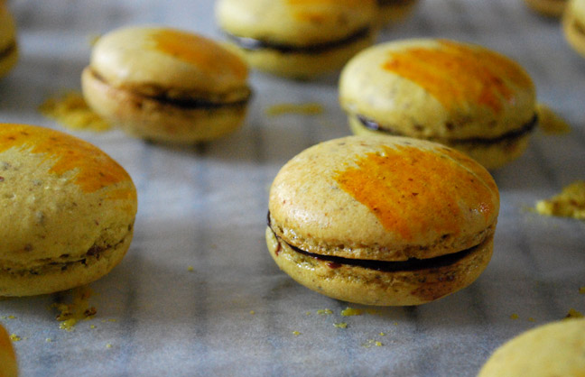 Chocolate Ginger Macarons | Pass the Cocoa
