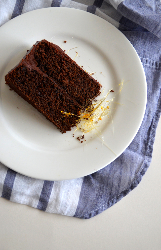 Chocolate Sour Cream Cake | Pass the Cocoa