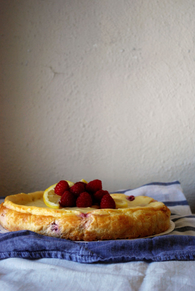 Raspberry Lemon Cheesecake with a Coconut Macaroon Crust | Pass the Cocoa