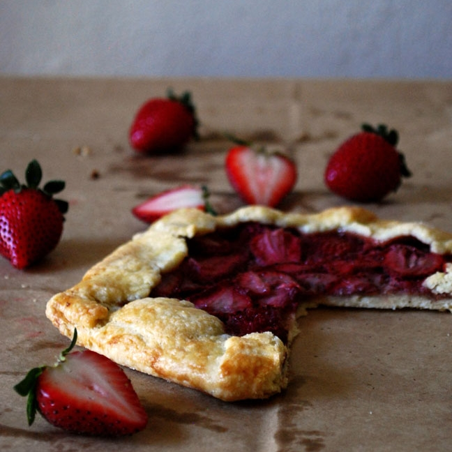 Strawberry Almond Galettes