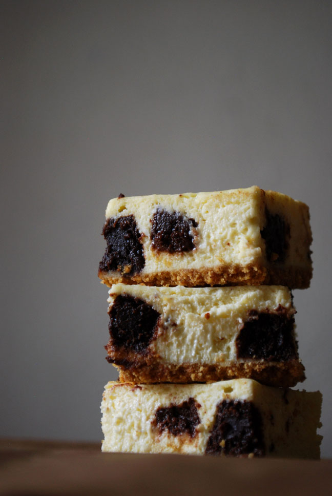 Brownie Mosaic Cheesecake Bars