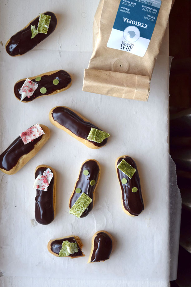 Irish Coffee Eclairs | Pass the Cocoa