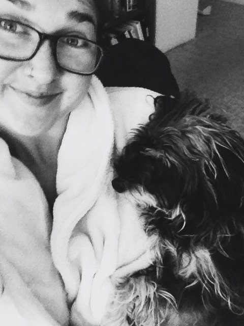 Snuggles with Scruffy