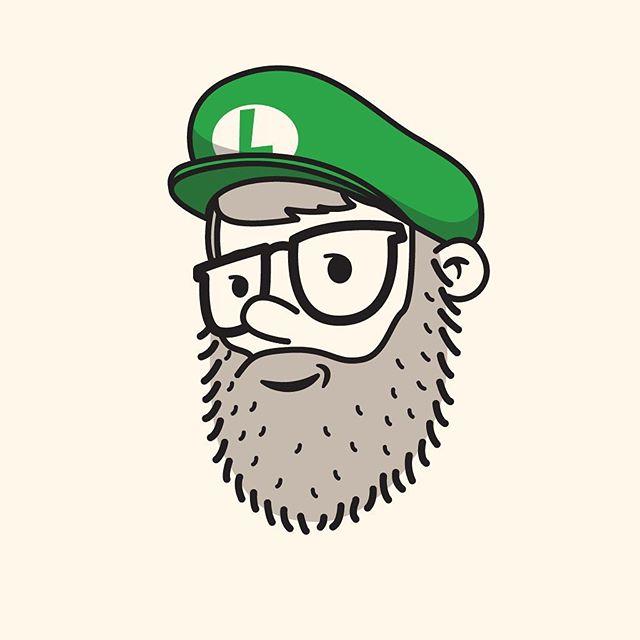 42/100 it's ah-Luigi #100dayproject #the100dayproject #100daysofheadshots #vectorillustration #luigi #hat