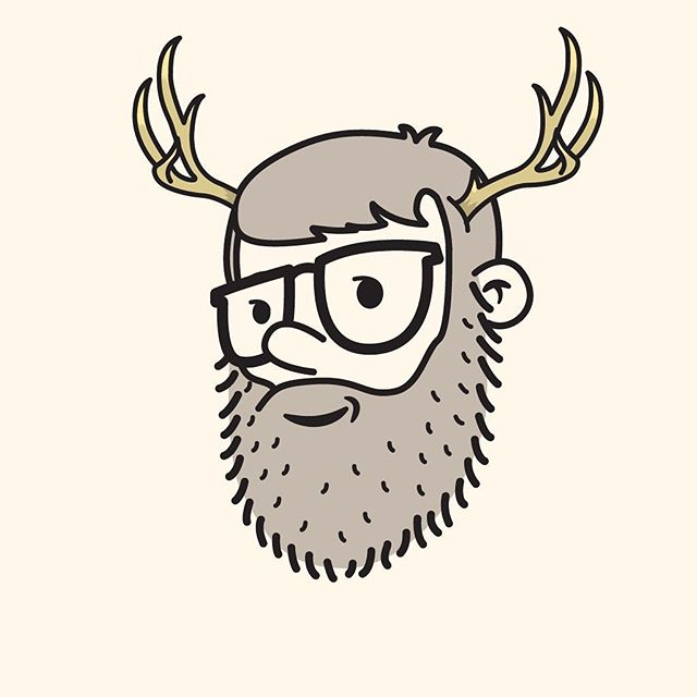 46/100 idk what is happening anymore haha thanks for the idea @eyelee #100dayproject #the100dayproject #100dayproject2018  #100daysofheadshots #vectorillustration #antlers #idk