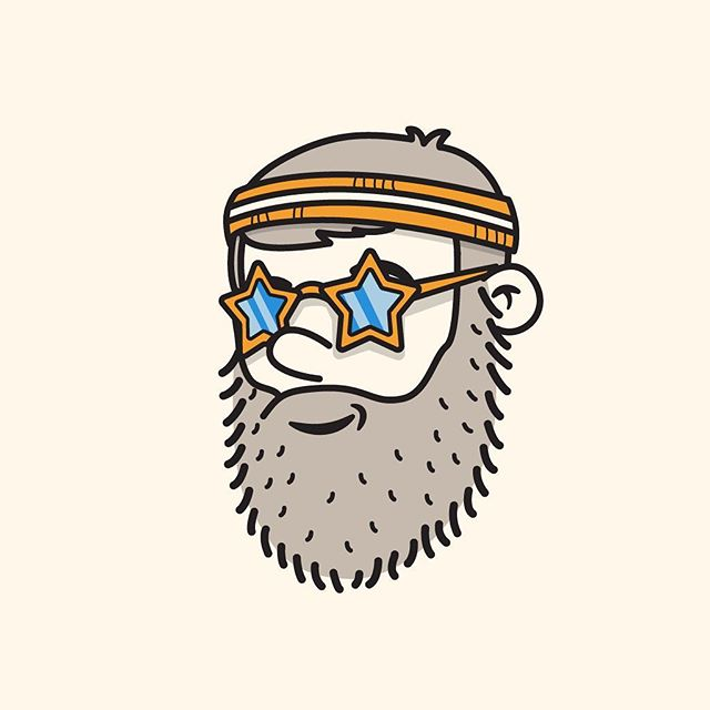 48/100 it's Friday and I keep falling father behind in this #100dayproject #the100dayproject #100dayproject2018 #100daysofheadshots  #vector #vectorillustration #starglasses #sweatband