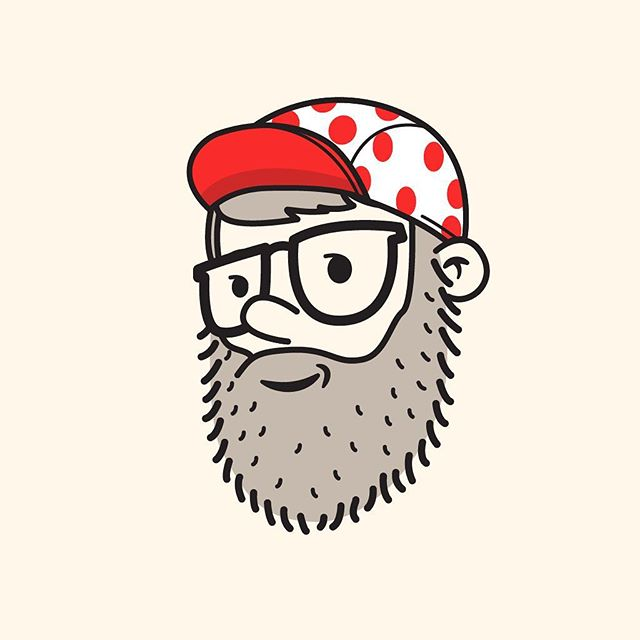 50/100 Halfway there! A little king of the mountain hat #100dayproject #the100dayproject #100daysofheadshots #vector #vectorillustration #tourdefrance #kingofthemountain #polkadot #hat #cycling