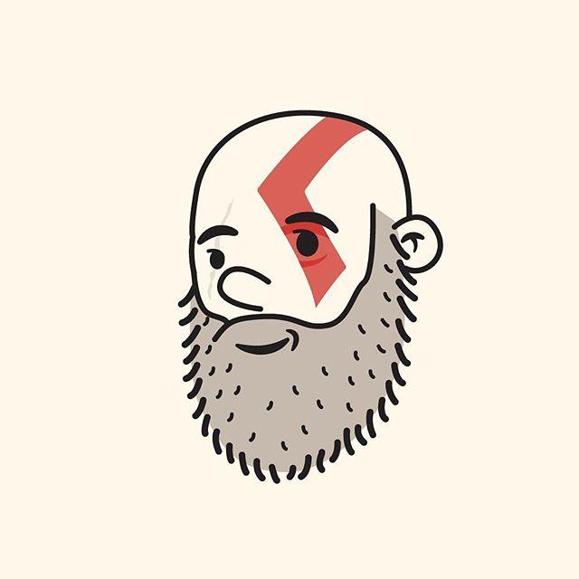 52/100 Kratos #100dayproject #the100dayproject #100dayproject2018 #100daysofheadshots #kratos #godofwar #face