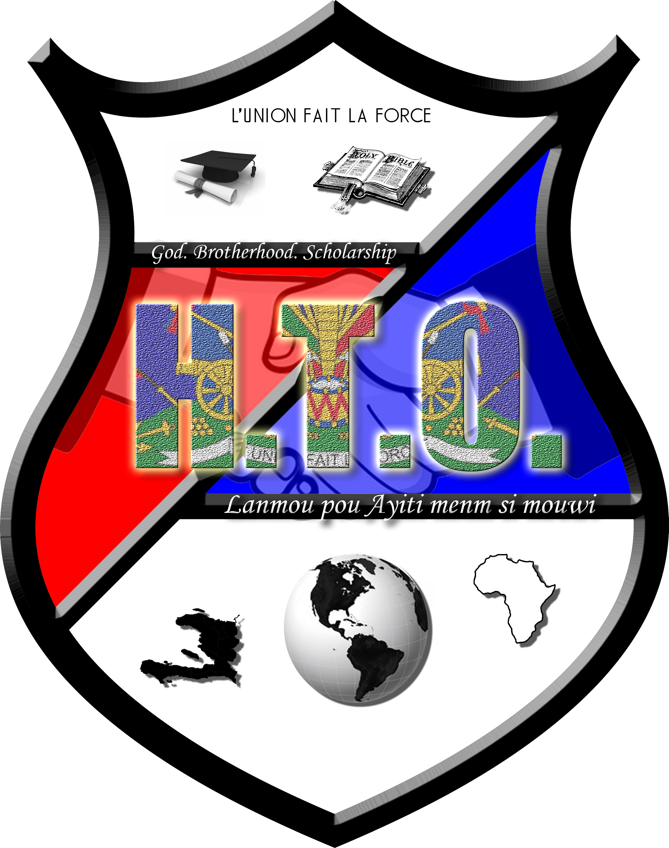 H.T.O. [Haitian Take Over] Crest