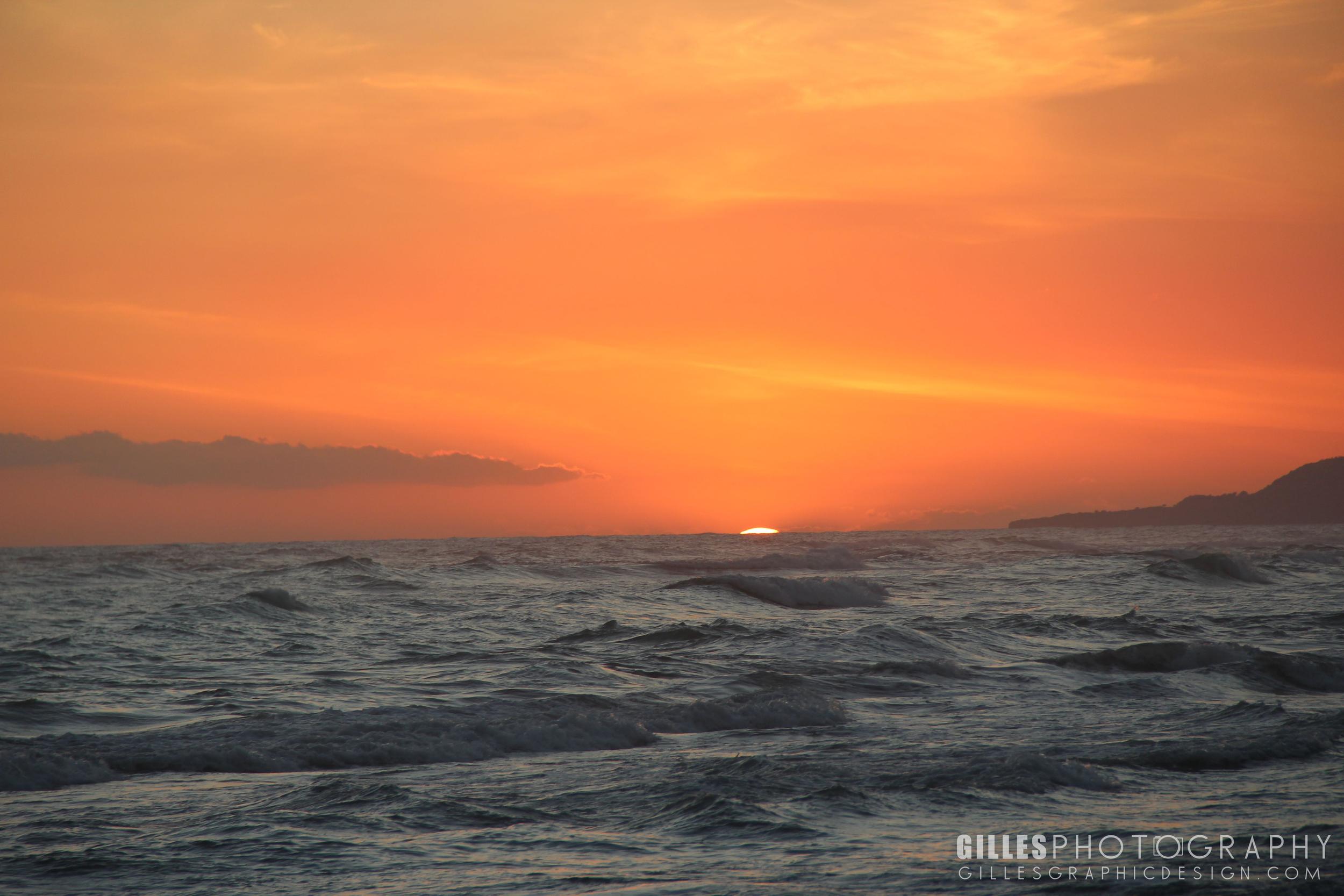 Sunset at Jacmel Beach