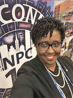 La'Keylah White at NPC 2019 in San Francisco, CA.