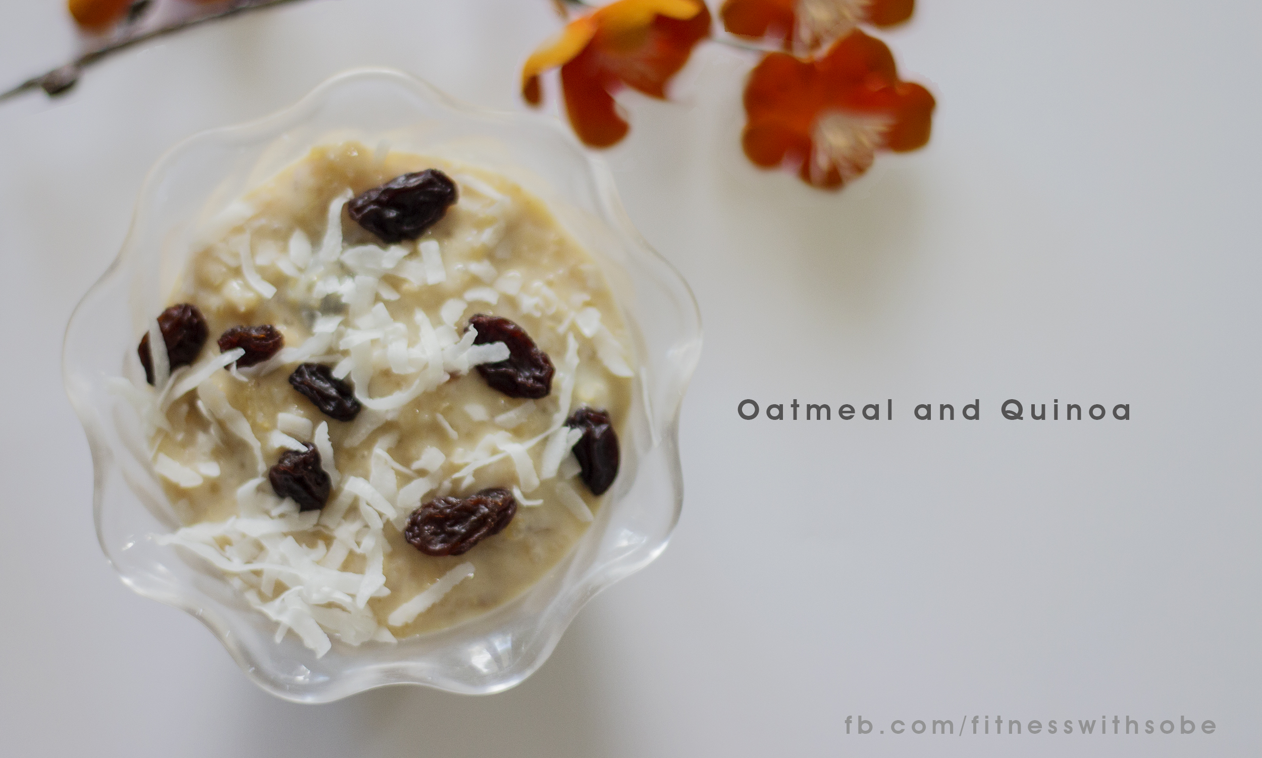 Add 1/2 cup of Oatmeal and 1/2 cup of Quinoa, 1/2 gallon of Almond milk (Unsweetened) to a pan.  Add 1tbs of Vanilla extract, raisins and coconut flakes (unsweetened) to taste.  Let boil for 30 minutes.