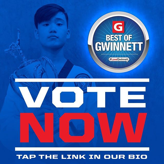 🏆VOTE FOR US🏆 We are up for @bestofgwinnett again this year. Please tap on the link in our profile and vote for us!!!! #bestofgwinnett #martialarts #taekwondo #bufordga #gwinnettcounty #bufordcity #daculaga #hamiltonmill