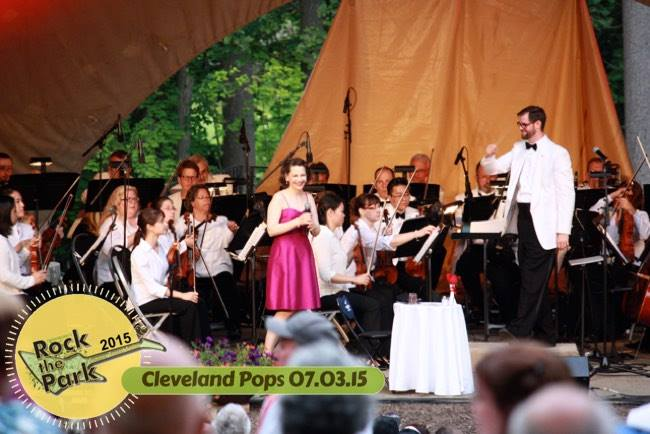 Joan Ellison & Jason Seber with the Cleveland Pops at Twinsburg's Rock the Park Concert