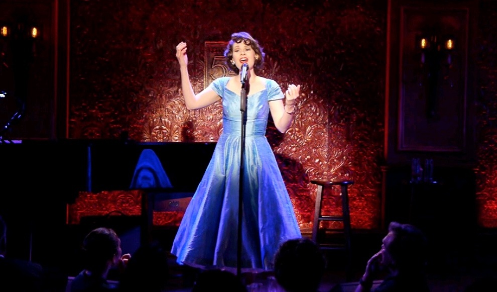 """Joan sings """"The Palace Medley"""" at Feinstein's/54 Below in New York City."""