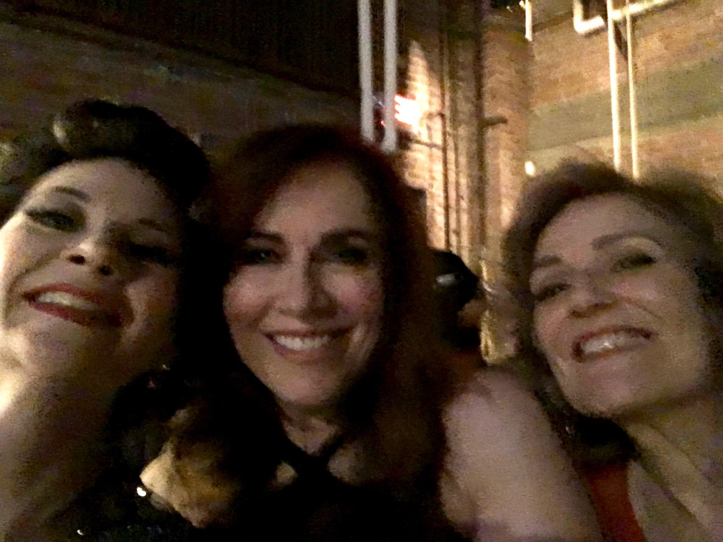 Debbie Gravitte, Karen Mason, and me.