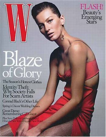 Gisele Bündchen, Michael Thompson, W January 2004 .jpg