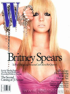 Britney Spears, Michael Thompson, W 01 August 2003 .jpg
