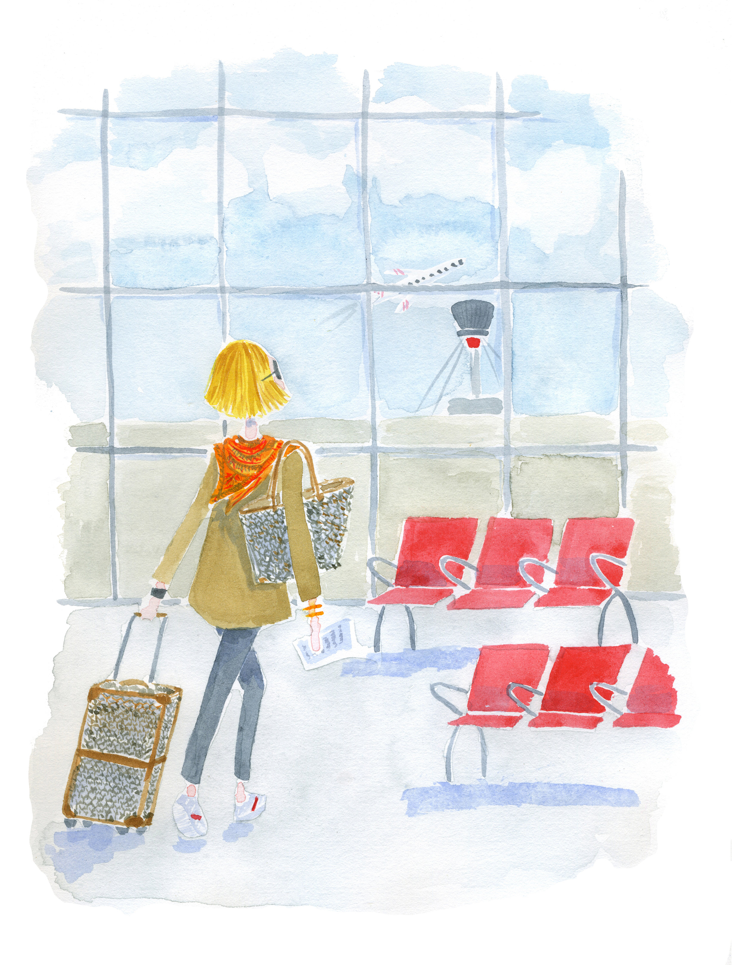 The Frances Flair Illustrations - Airport.jpg