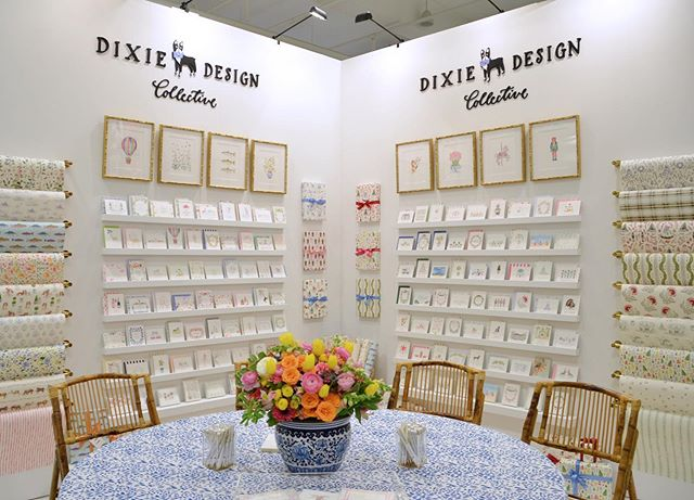 This is what amazing team work looks like!!! So excited @dixie_design is making their debut at @americasmartatl this week, booth 704 in High Design. Make sure to stop by and say hello. So thankful for the hard working team at Dixie who made this gorgeous booth happen and all the amazing Dixie artists who created beautiful artwork to fill the booth with. 💙 . . . #dixiedifference #dixiedesign #dixieinspiration #dixielifestyle #dailydoseofpaper #ihavethisthingwithcolor #flashesofdelight #paperlove #makersmovement #acolorstory #pursuepretty #dscolor #dstexture #smploves #sendmoremail #sodomino #snailmail #southerndesign #designlove #americasmart #americasmartatl