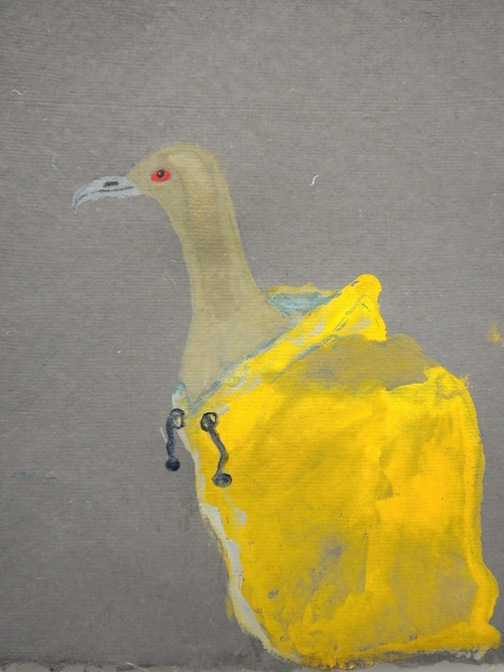 """Lucerne Gold Collar , 2014 10 x 12"""" gouache, oil stick and graphite on hand made rag paper"""