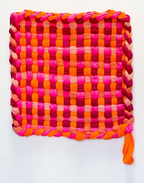 """A Color Study of Pink,  2015 Fleece    60 x 60""""  Unique"""