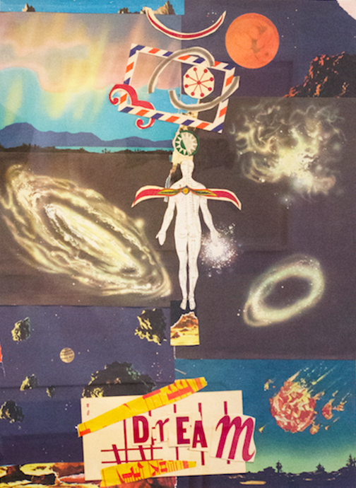 """Dream,  2007 17.5 x 23"""" Mixed Media Collage"""