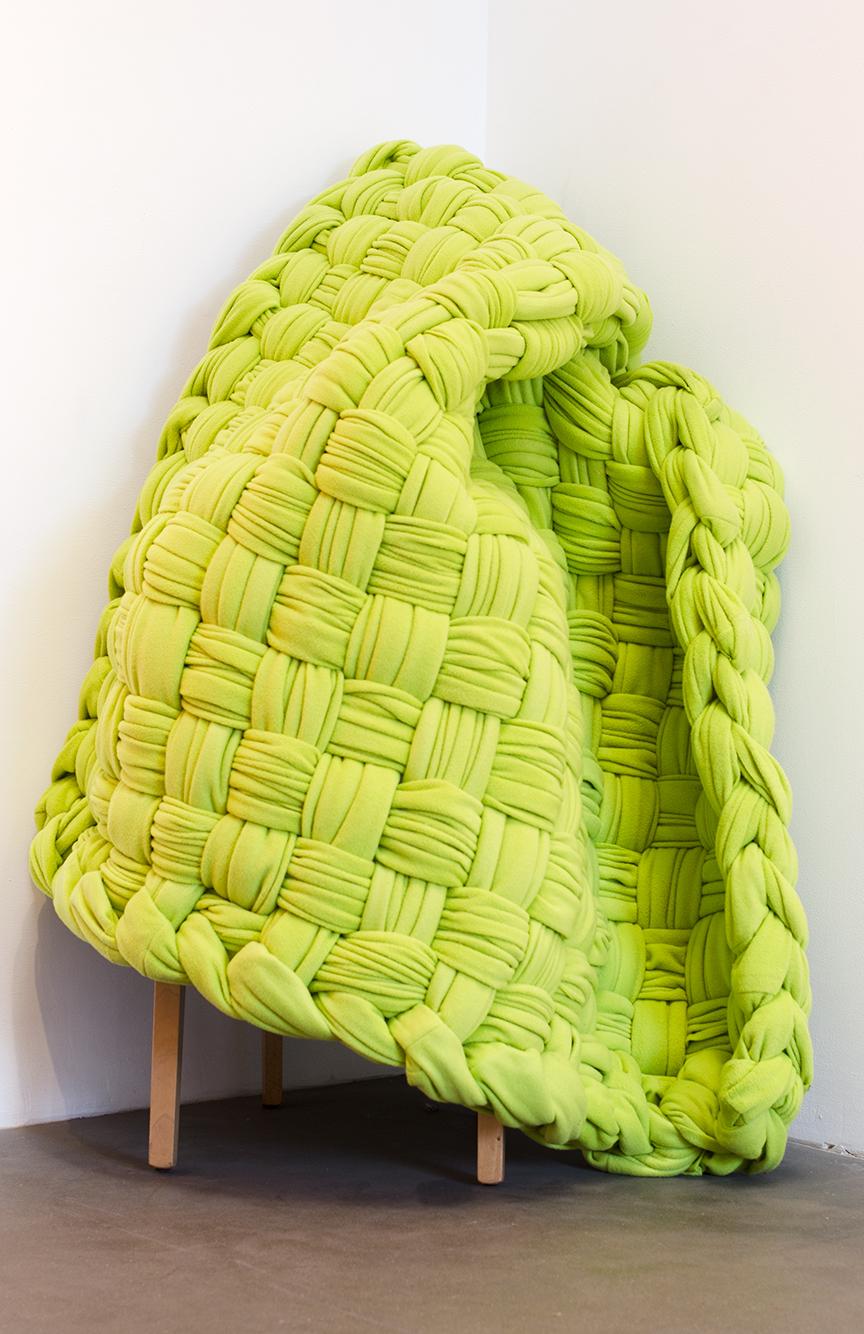 Chartreuse,  2015 Fleece 50 x 50 inches Unique