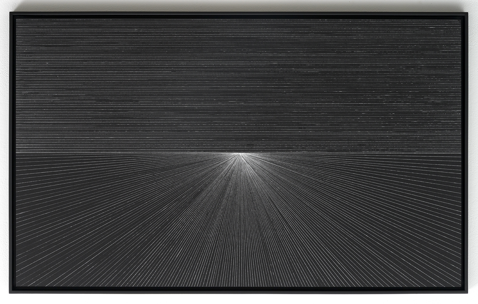 Jason Peters    Untitled 2   , 2014   Silver ink on black construction paper   21.5 x 35 inches   Unique   Mounted to aluminum
