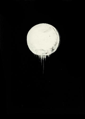 Karley Sullivan  Enceladus, 2014 5x7 inch Scratchboard,Unique