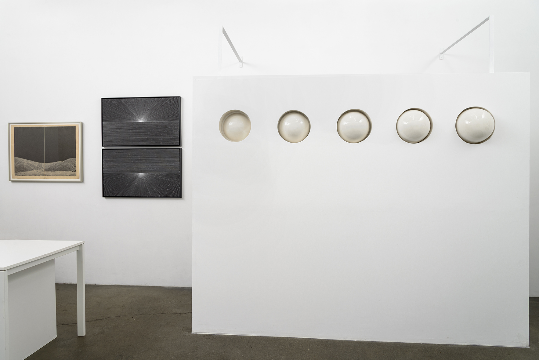 GRAVITY,  installation view, Sloan Projects, 2015/2016