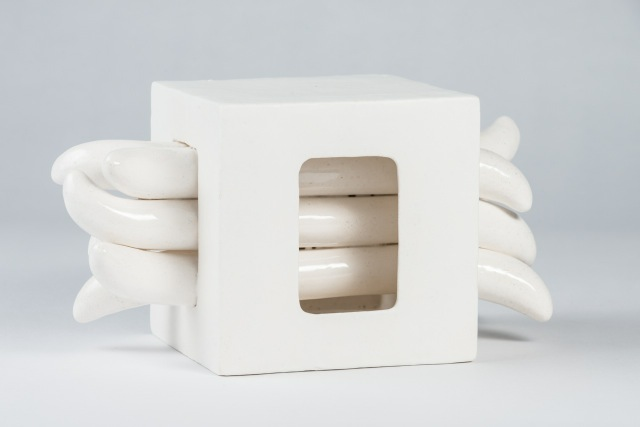 Elizabeth Orleans  Wiggle Room , 2015 Glazed ceramic 9.5 x 5 x 5 inches