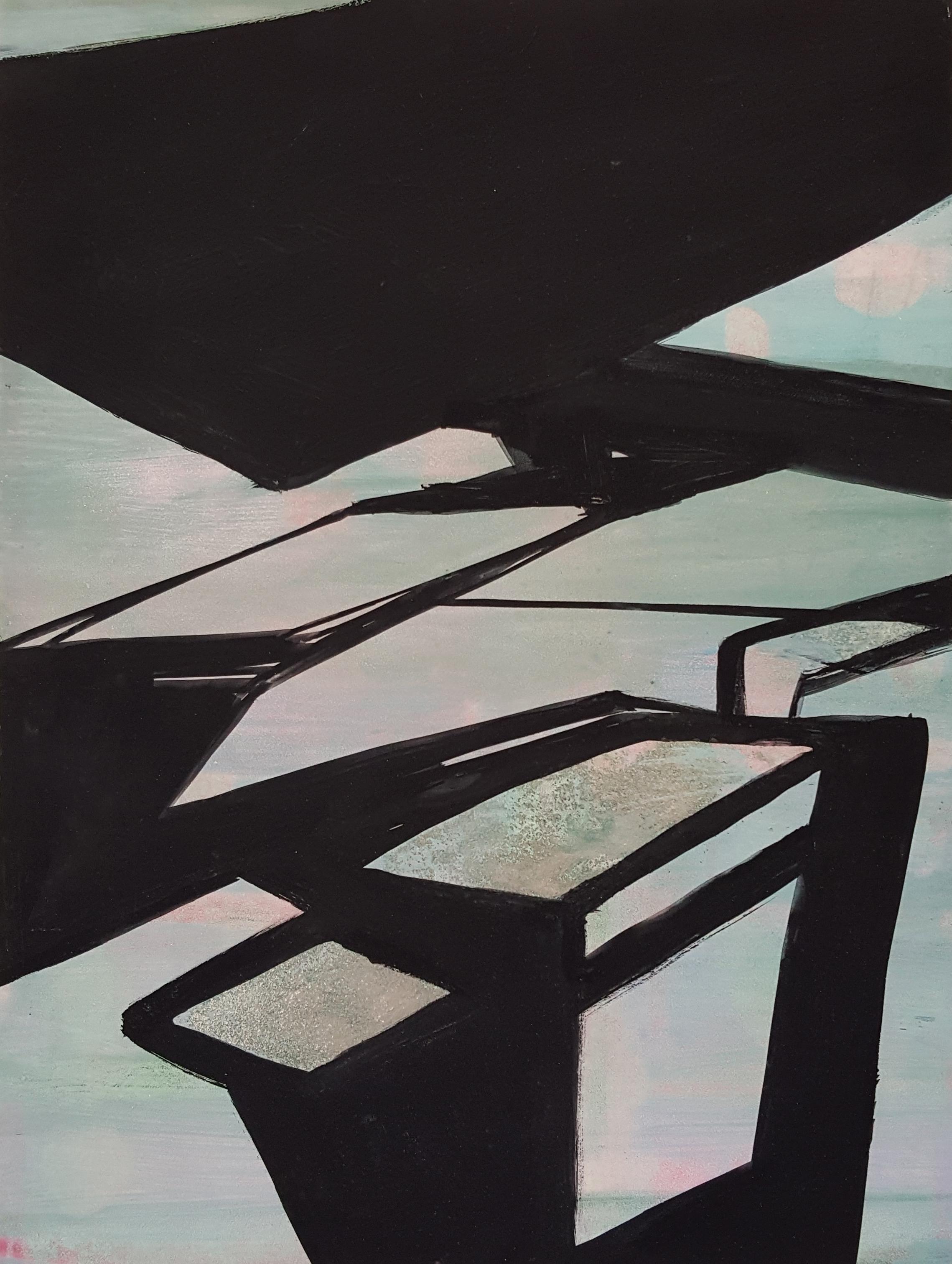 Rebeca Puga  Untitled , 2016 Oil on Wood Panel