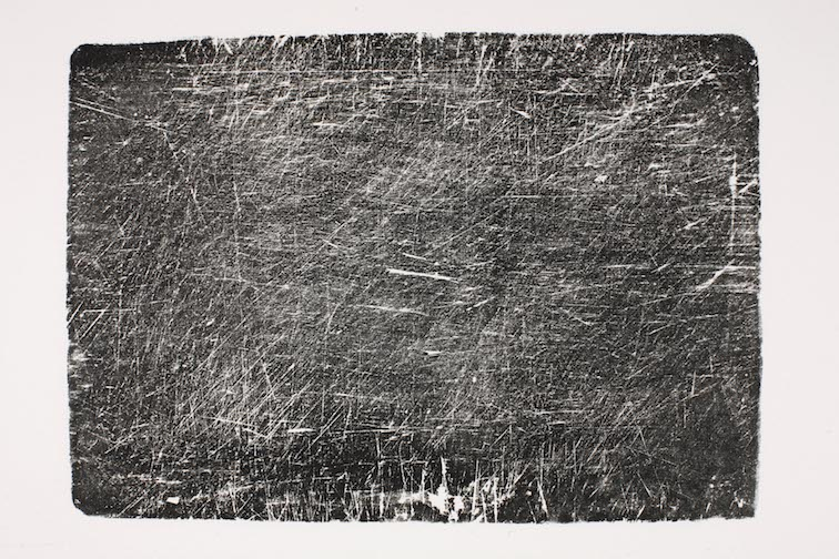 Mary Beth Heffernan  Cutting Board (Clement Family) , Side B, 2005 Two monoprints, limited editions of 5 23 x 29.5 inches