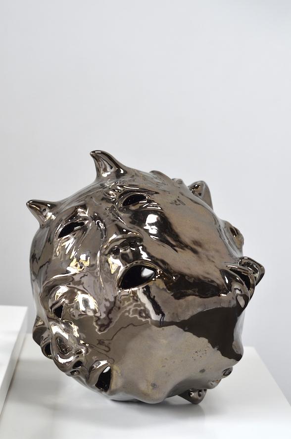 Elizabeth Orleans  Big Voices (ED) , 2015 12 x 12 x 11 inches Glazed ceramic