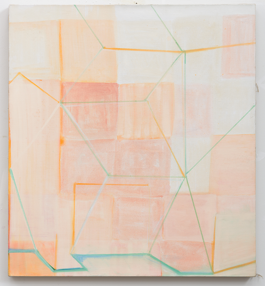 Rebecca Puga  Afterthoughts , 2012 Oil on canvas 40 x 40 inches