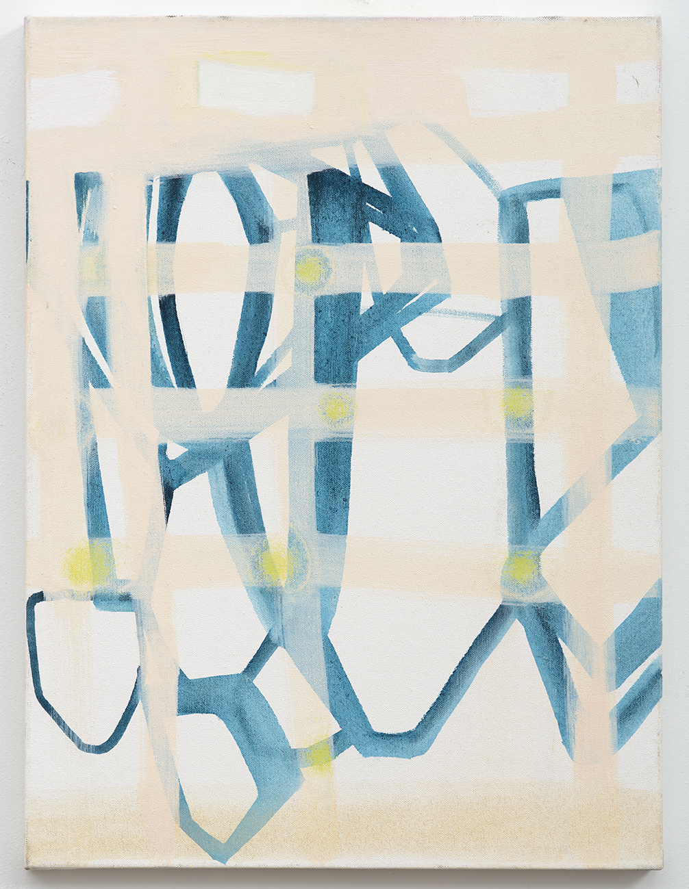 Rebeca Puga  Curtain,  2014 Oil on canvas 24 x 18 inches