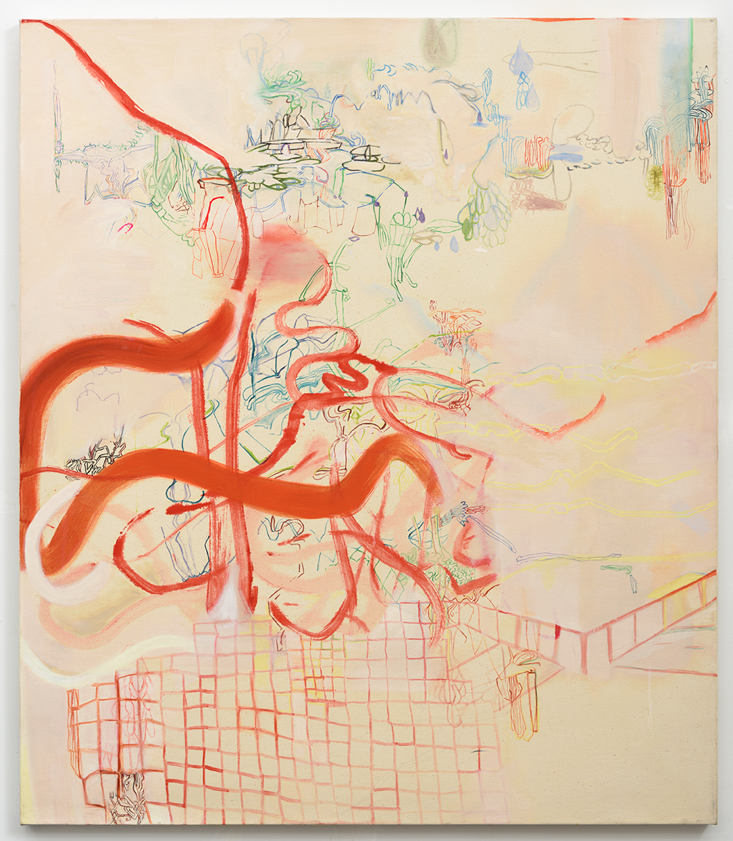 Rebeca Puga  Wide Terrace,  2012 Oil on canvas 60 x 52 inches