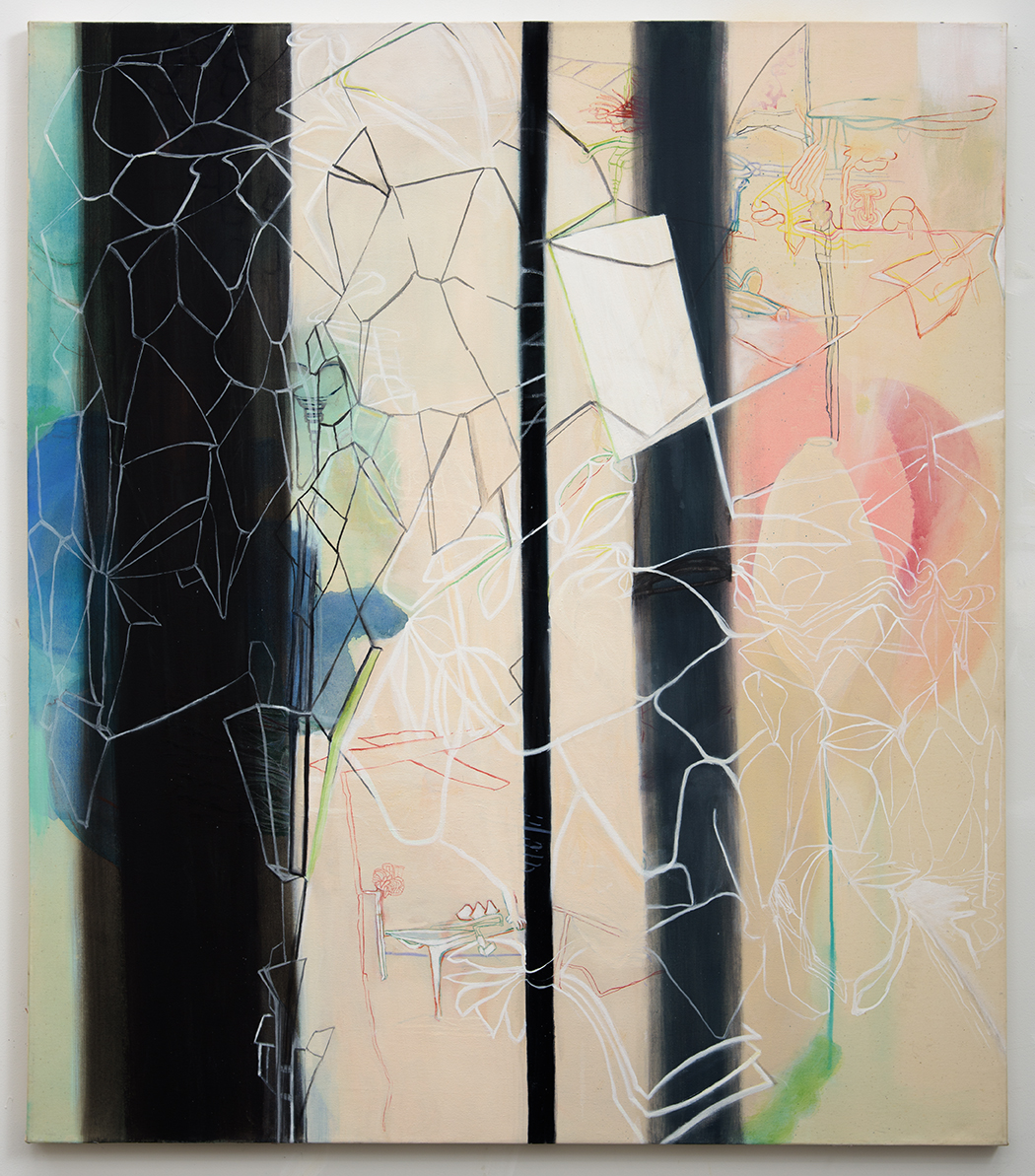 Rebeca Puga  Neutrinos,  2012 Oil on canvas 60 x 52 inches