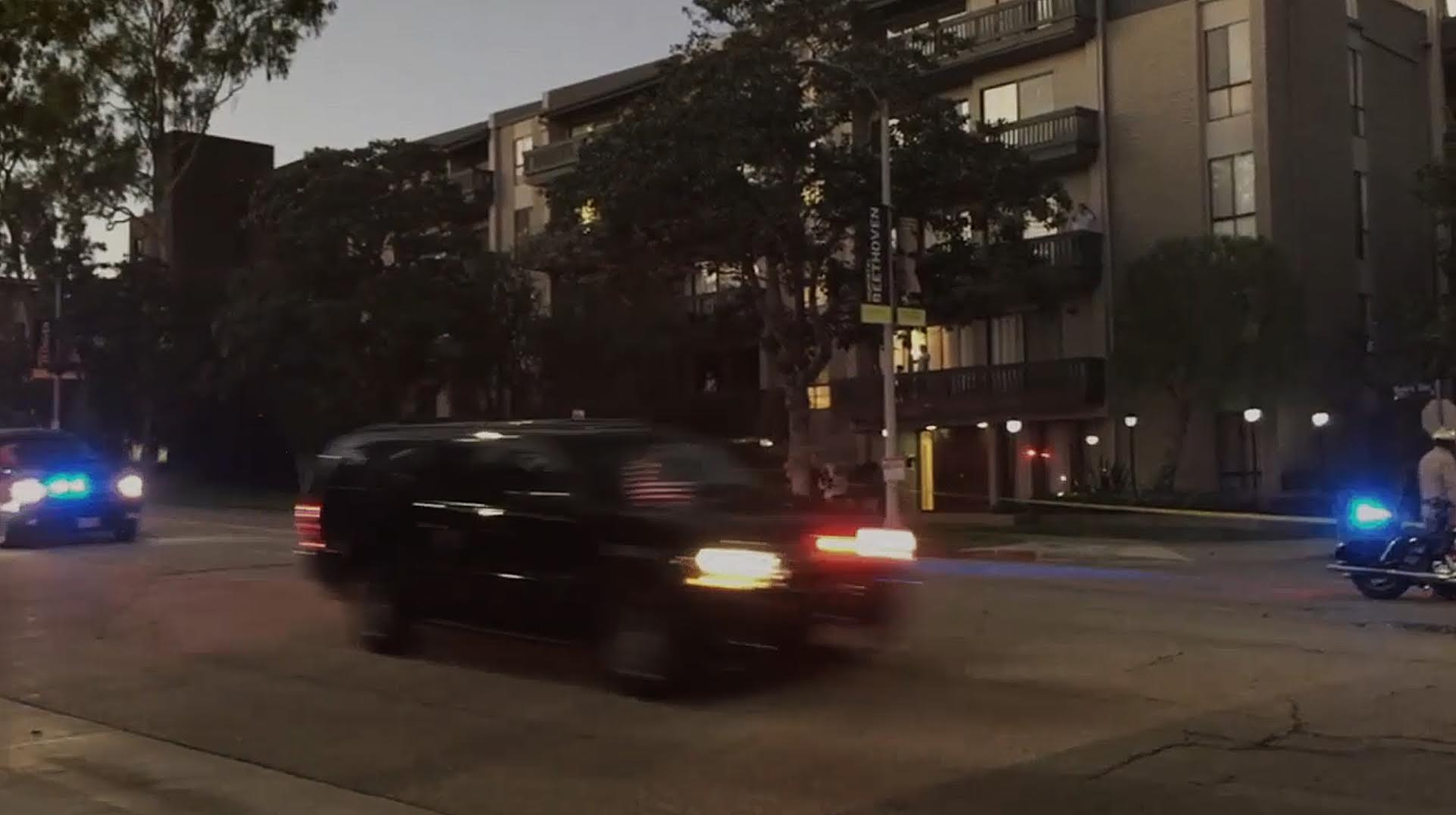 Alia Malley  Motorcade , 2016 HD video on monitor in artist's frame, 2:08 (looped) 30.25 inches x 18.25 inches