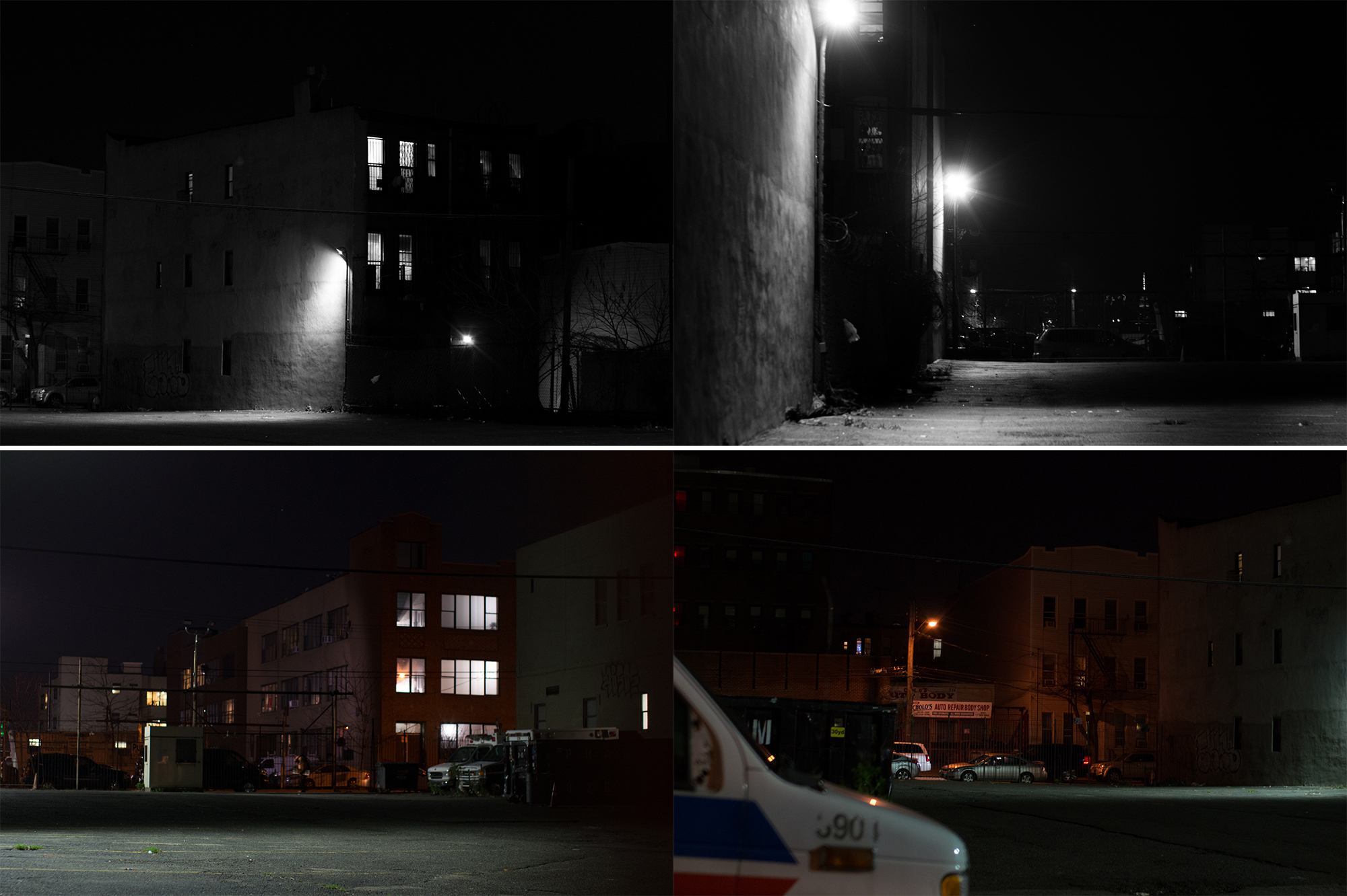 1/3    I set out originally with a different exercise in mind — which turned out fine, but I liked this accidental concept better. The top row is the same subject shot from different sides, edited. The bottom row is where I was standing when I shot the photos above, unedited.