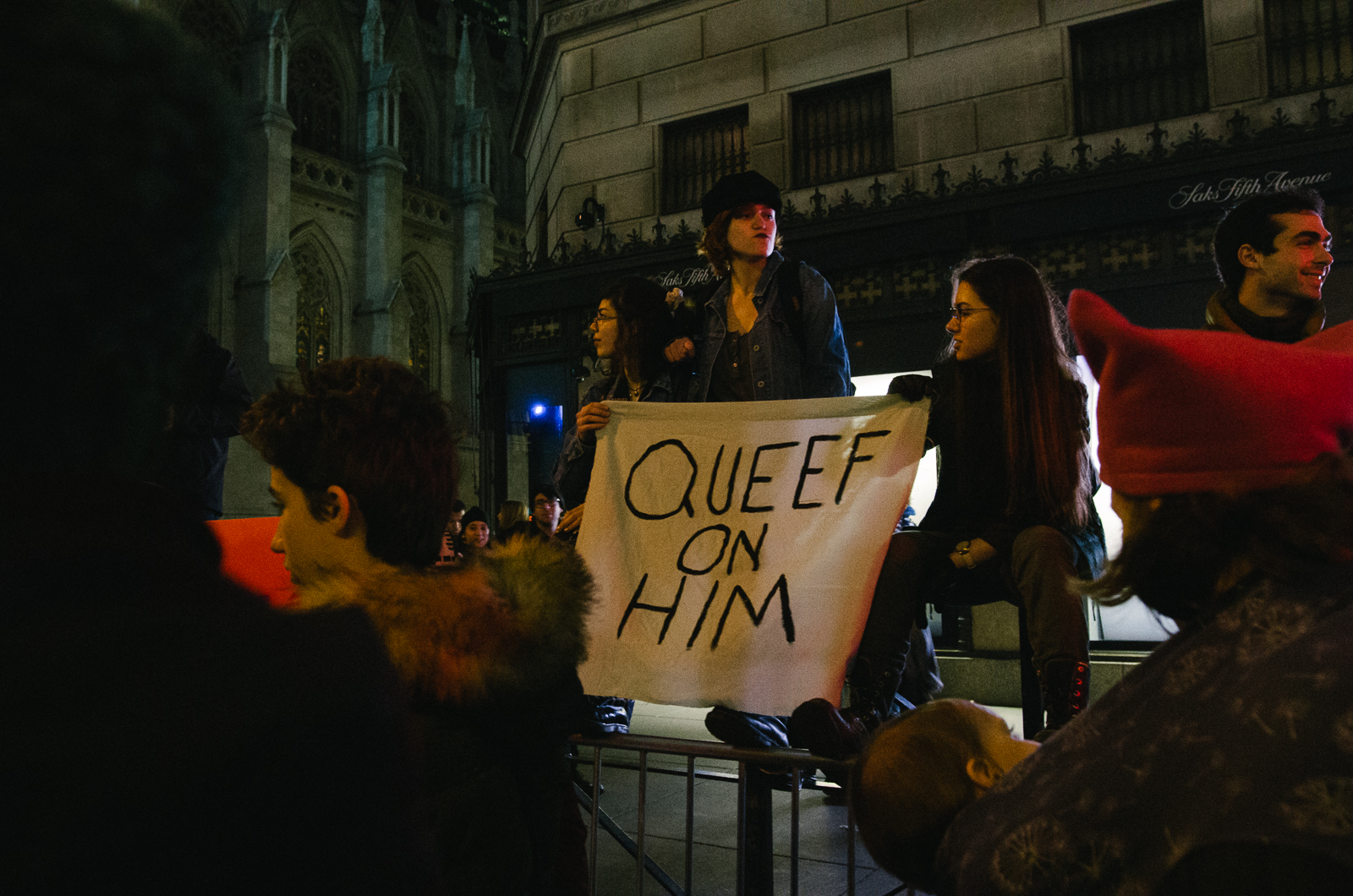 "A highlight of the march: overhearing two nearby women wonder what ""queef"" was."