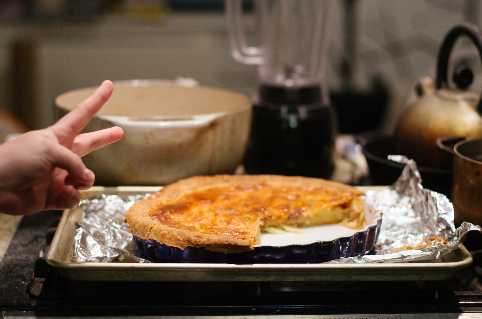 I had  tart dough  (Samin Nosrat,  Salt, Fat, Acid, Heat ) hanging around my freezer so I defrosted it and made this  Savory Potato Tart  (David Tanis for the New York Times).