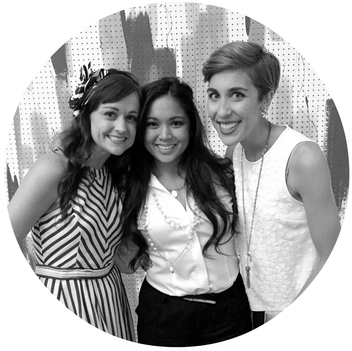 Left to Right: Hilary Rushford, Ashlee Chu, and Jessie Artigue at The Influence Conference, 2014
