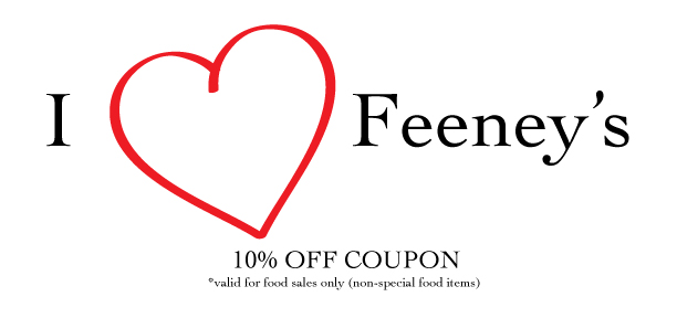 Bring this coupon in for 10% off your next dine in experience.
